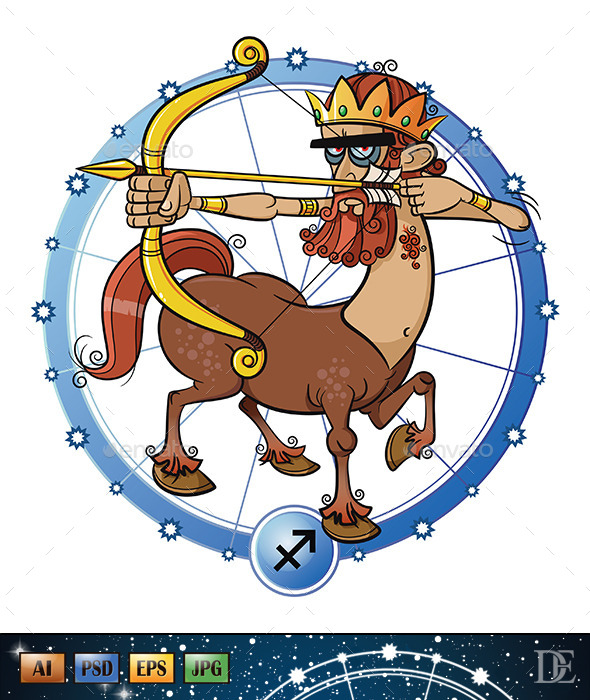 GraphicRiver Astrology Sign Sagitarius 10723095