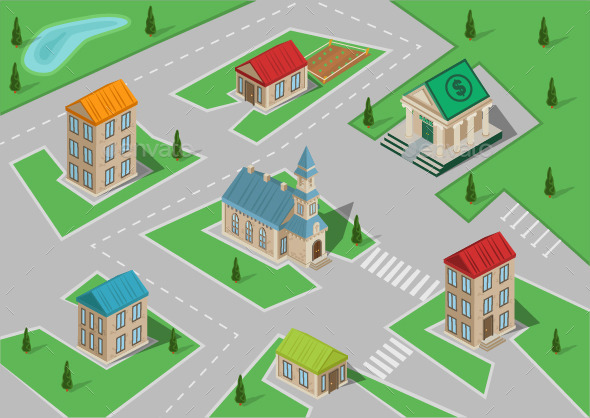 GraphicRiver Isometric Town 10789148