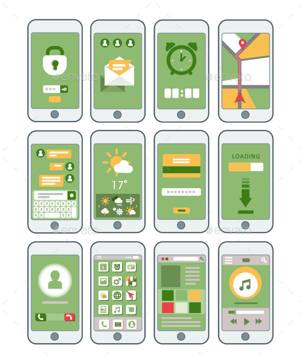 GraphicRiver Mobile Interfaces Set 10789326