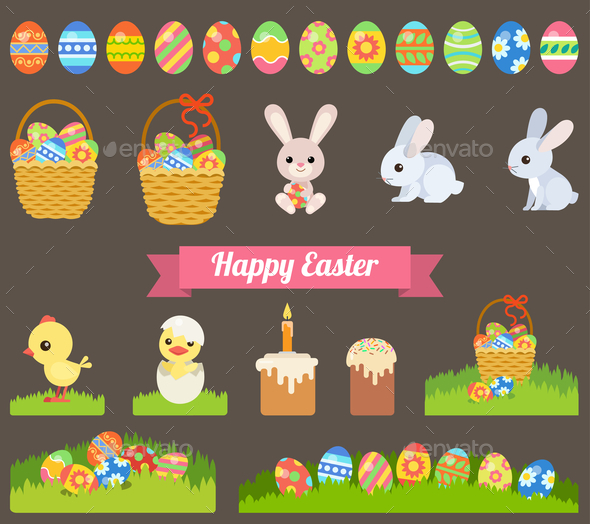 GraphicRiver Easter Holiday Icons 10789433