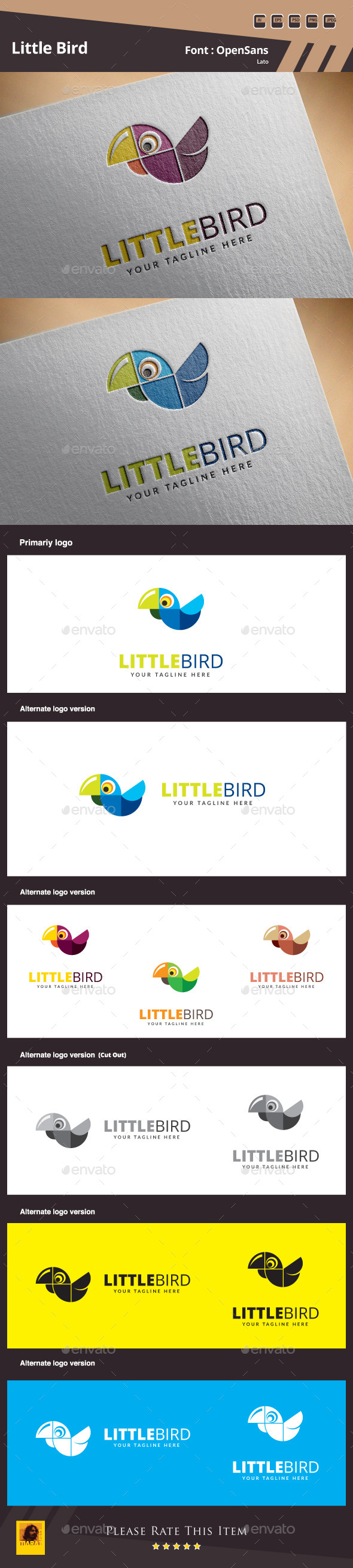 GraphicRiver Little Bird Logo Template 10789455