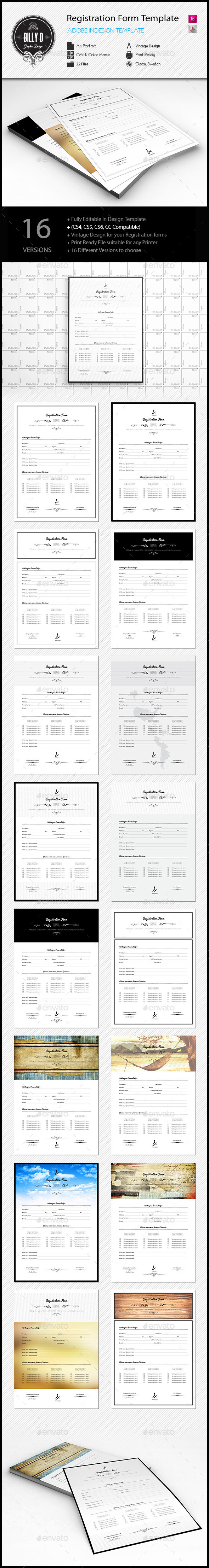 GraphicRiver Registration Form Template 10789546