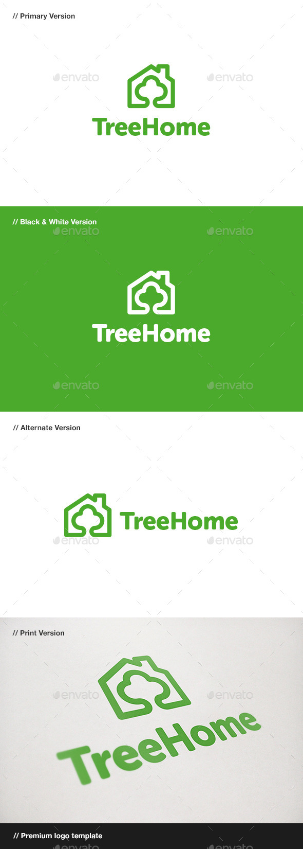 GraphicRiver Tree Home Logo 10789611