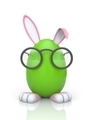 Rabbit in the egg with glasses - PhotoDune Item for Sale