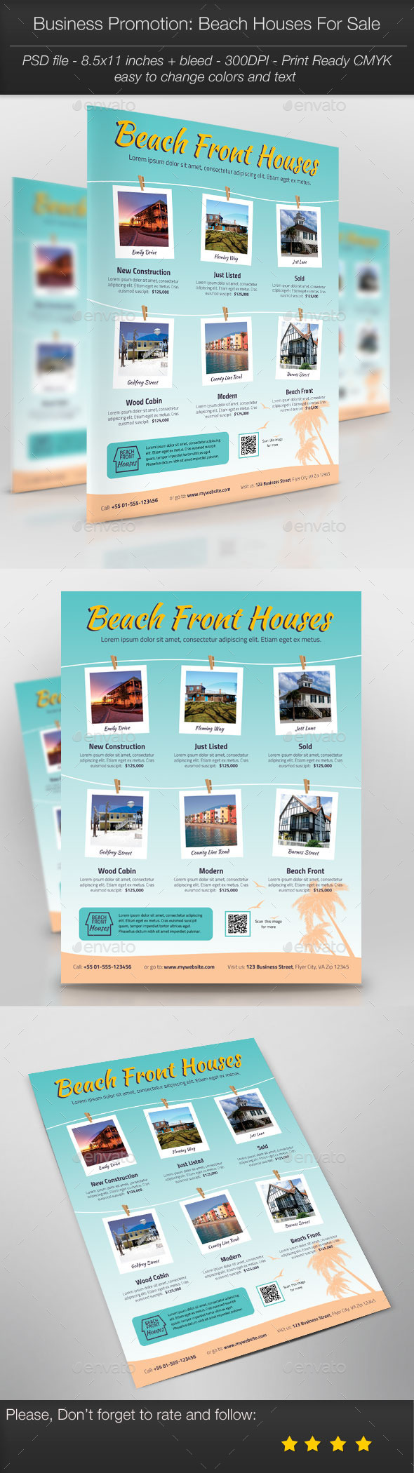 GraphicRiver Business Promotion Beach Houses For Sale 10790157