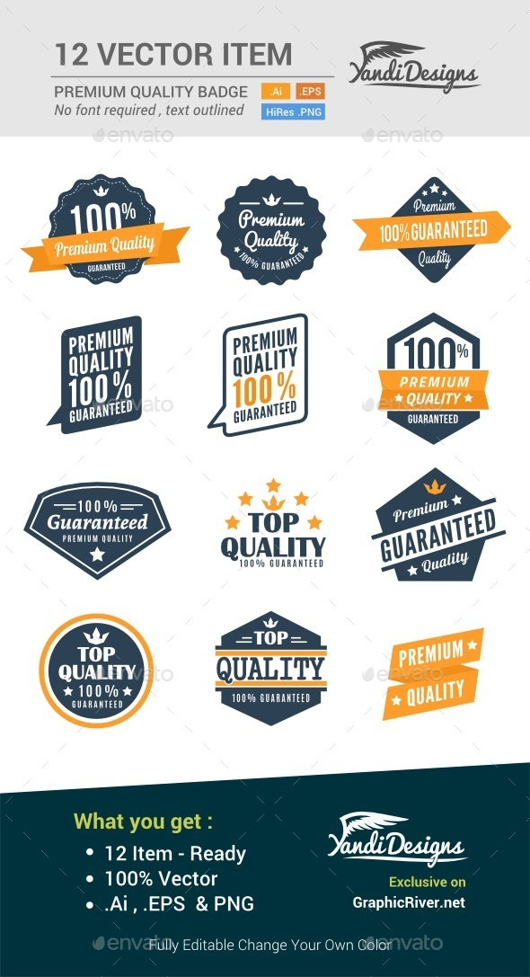 GraphicRiver Premium Quality Badge 10790278