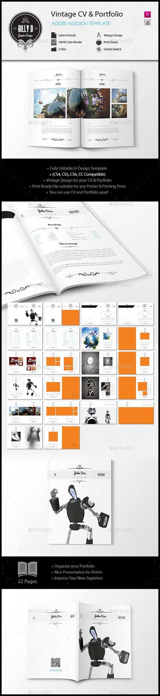 GraphicRiver Vintage CV and Portfolio 10790298