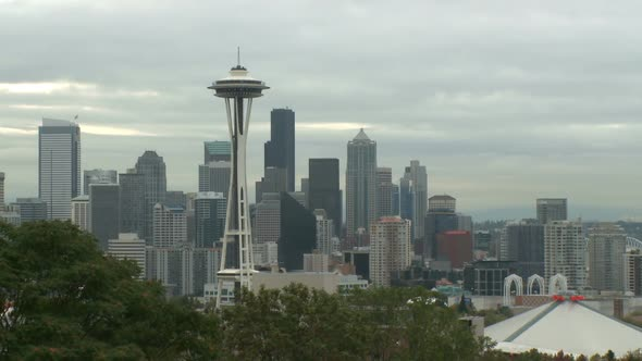 VideoHive Cloudy Seattle Morning 10791632