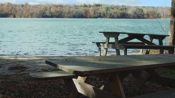 Picnic Table On The Water 7 Of 9