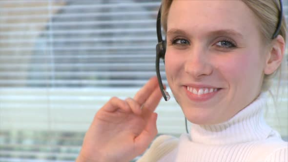 Professional Female Wearing Headset 3 Of 7