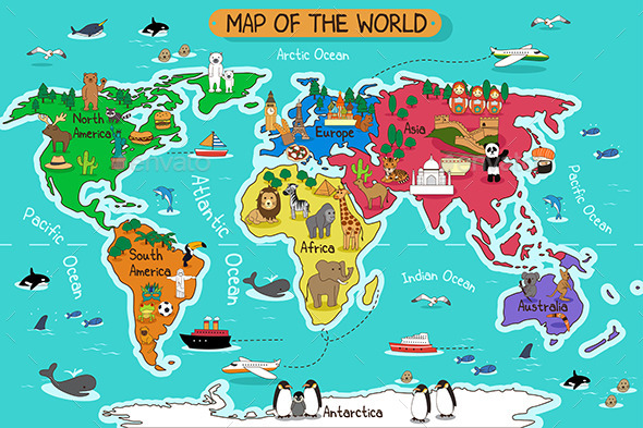 GraphicRiver Map of the World 10792525