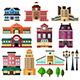 Buildings and Lamp Posts - GraphicRiver Item for Sale