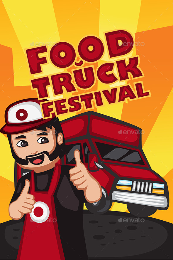 GraphicRiver Food Truck Festival Poster 10792687
