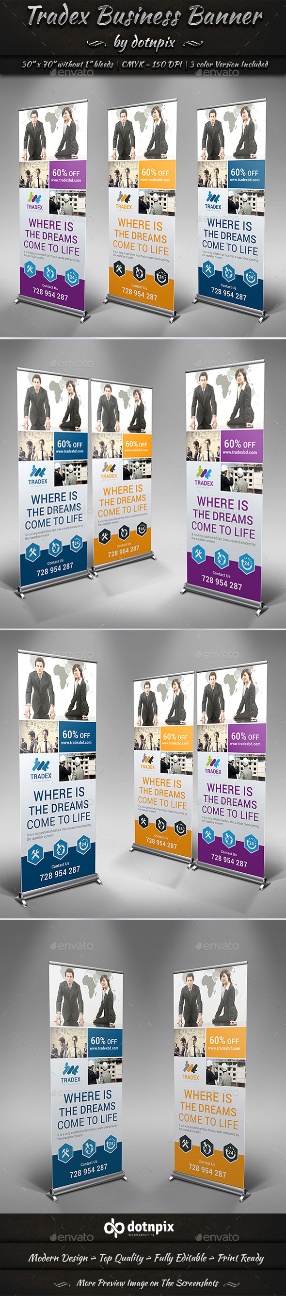 GraphicRiver Tradex Business Banner 10792793