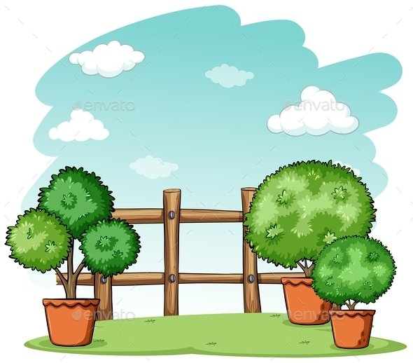 GraphicRiver Garden with a Fence 10793383