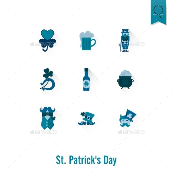 GraphicRiver Saint Patricks Day Isolated Icon Set 10793494