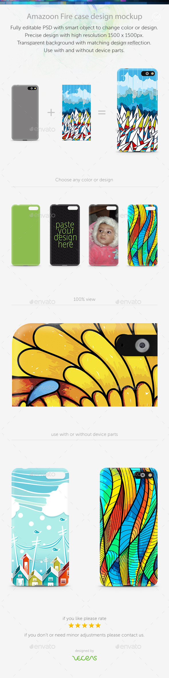 GraphicRiver Amazoon Fire Case Design Mockup 10793841