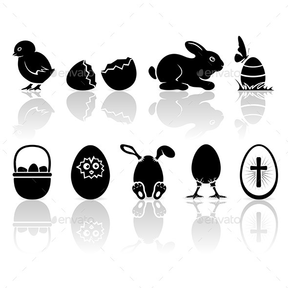 GraphicRiver Easter Icons 10793879