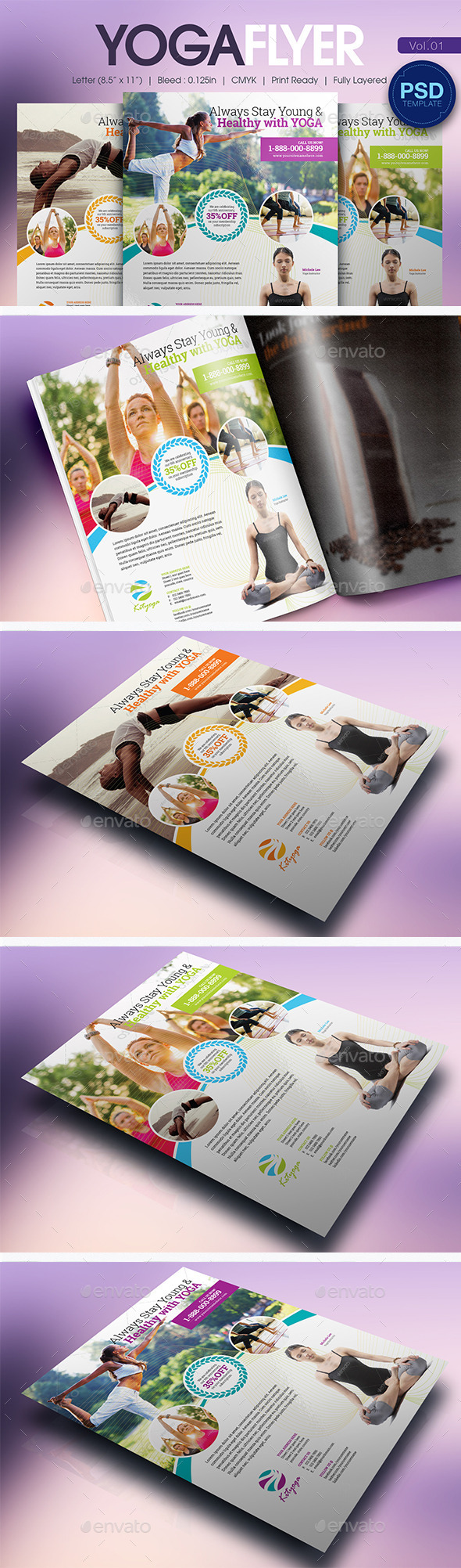 GraphicRiver Simple Yoga Flyer Vol.01 10793882