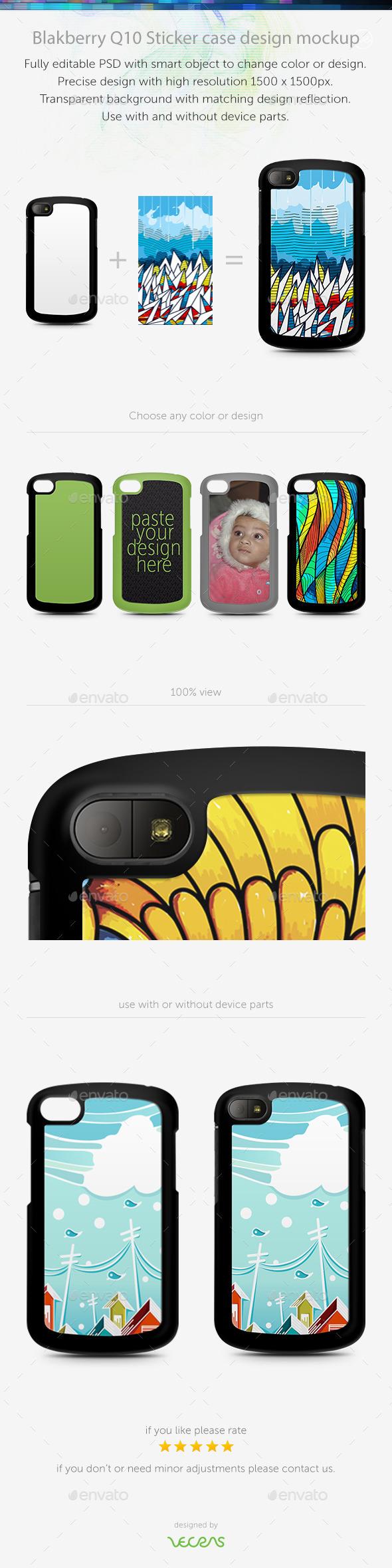 GraphicRiver Blakberry Q10 Sticker Case Design Mockup 10793913