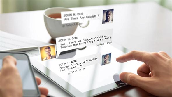 AE模板:手机聊天短信 泡沫消息传递模板包Videohive Chat Messages Pack
