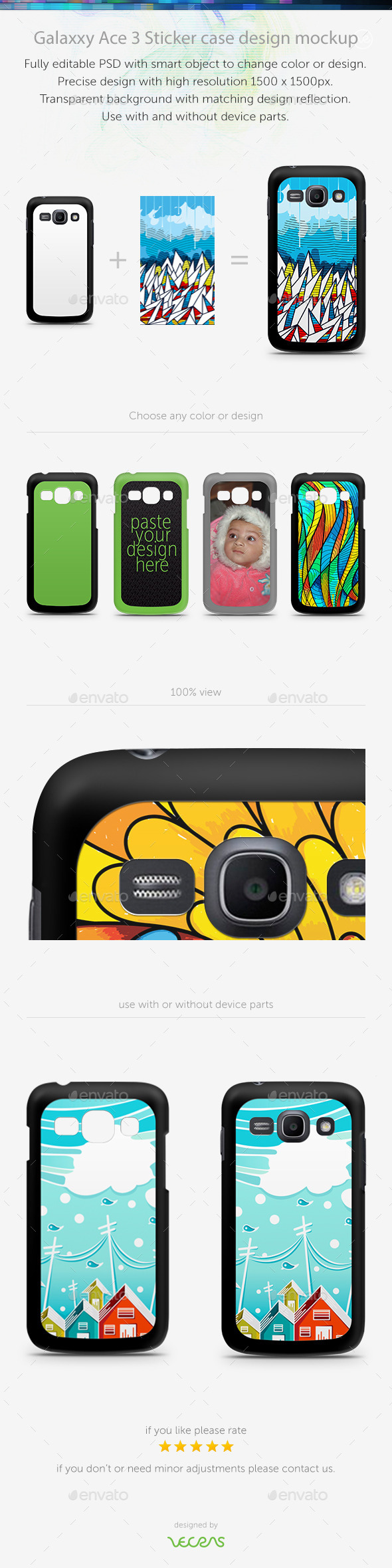 GraphicRiver Galaxxy Ace 3 Sticker Case Design Mockup 10793974