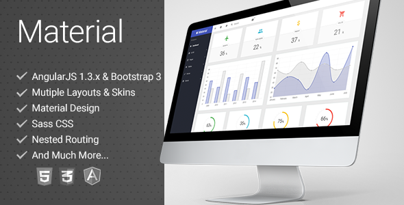 ThemeForest Material Design Admin Template & Landing 10713818