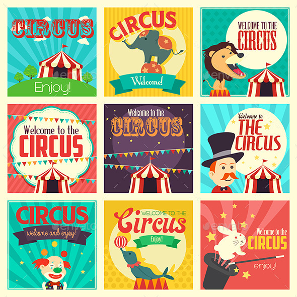 GraphicRiver Circus Icons 10794191