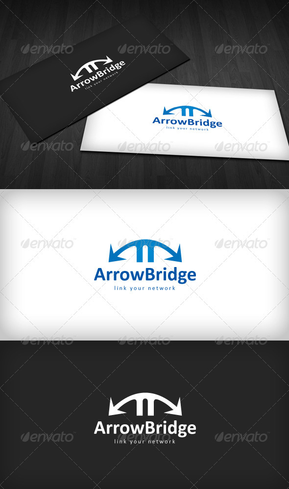 Arrow Bridge Logo - Vector Abstract