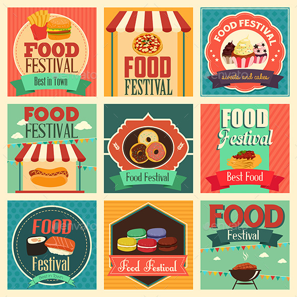 GraphicRiver Food Festival Icons 10794198