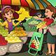 Fruit Seller in a Farmer Market - GraphicRiver Item for Sale