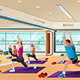 Men and Women in a Yoga Class - GraphicRiver Item for Sale