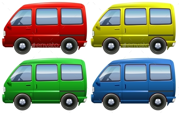 GraphicRiver Set of Vans 10794703