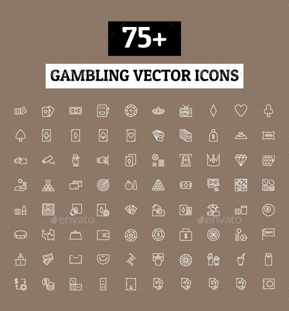 GraphicRiver 75& Gambling Vector Icons 10794877