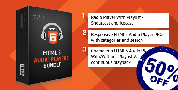 CodeCanyon HTML5 Reasponsive Audio Players Bundle 10753461