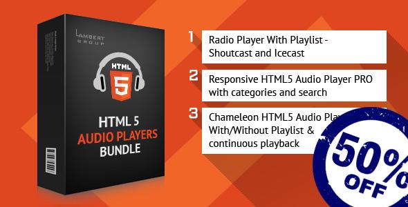 CodeCanyon HTML5 Responsive Audio Players Bundle 10753461
