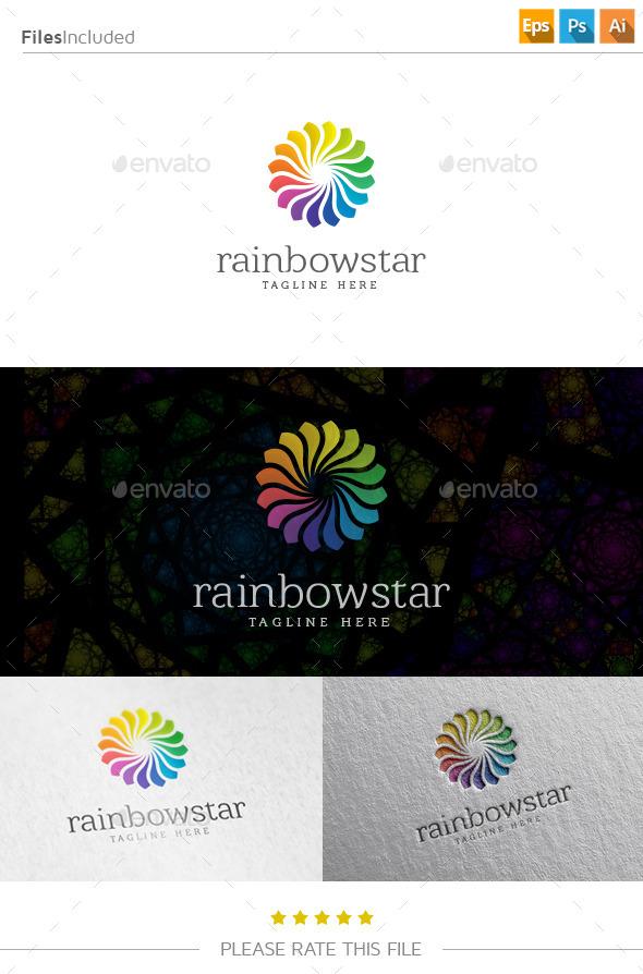 GraphicRiver Rainbow Star Logo 10737001