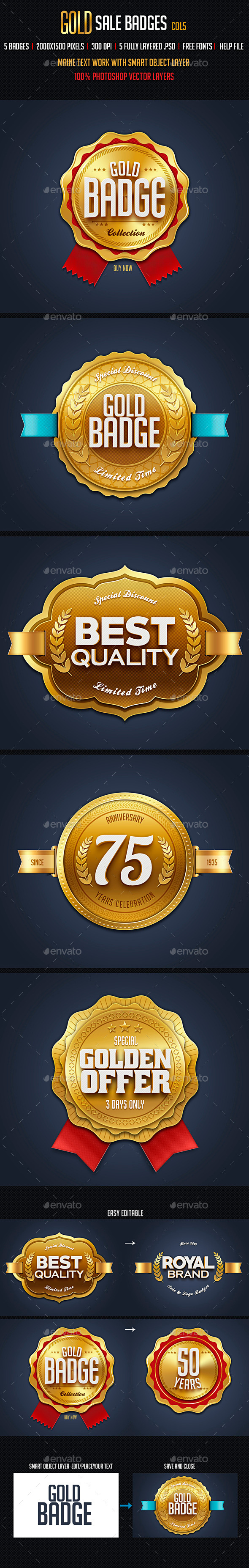 GraphicRiver Gold Sale Badges 5 10795071