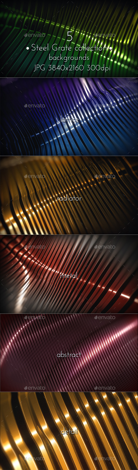 GraphicRiver Chrome Steel Grate Surface 10795178