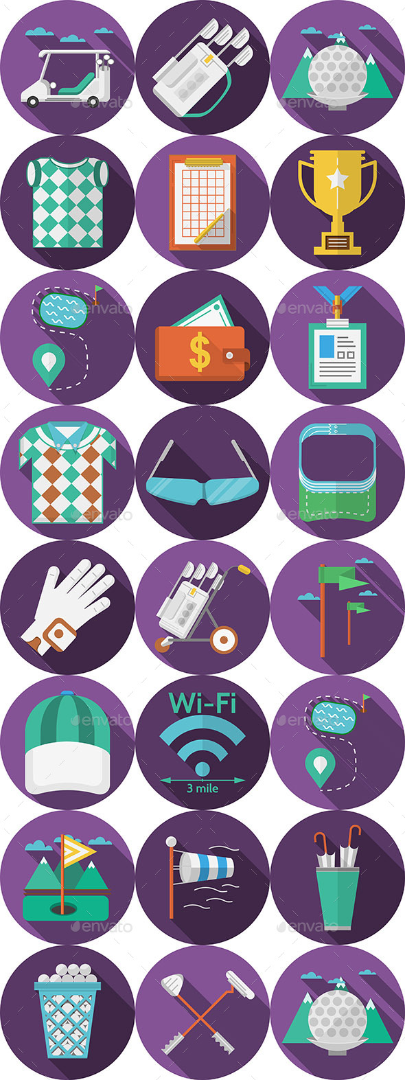GraphicRiver Golf Circle Icons 10795214