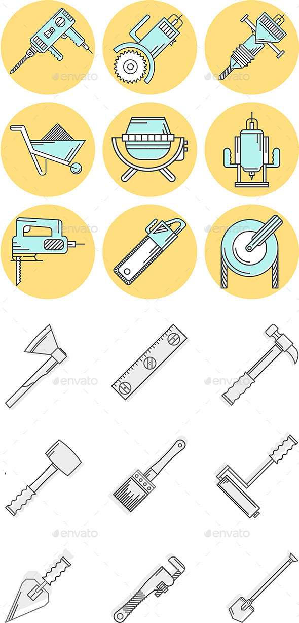 GraphicRiver Construction Icons 10795261