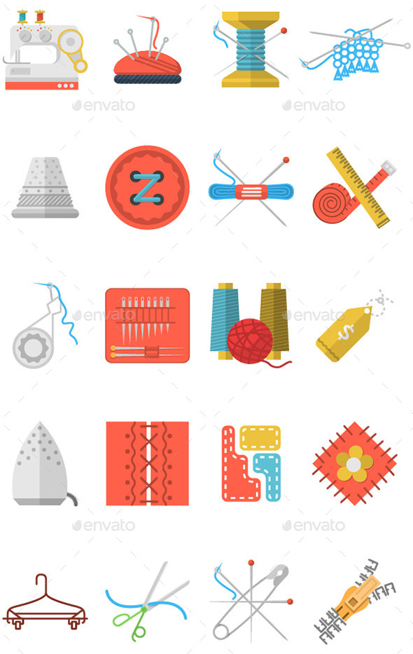 GraphicRiver Sewing Icons 10795345