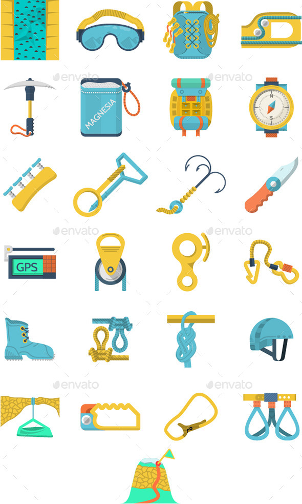GraphicRiver Rock Climbing Icons 10795374