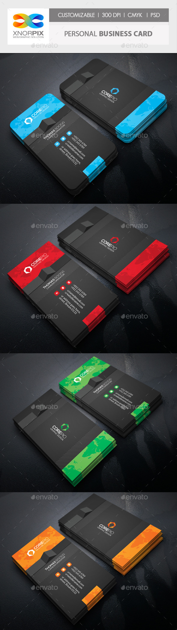 GraphicRiver Personal Business Card 10795562