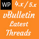 VBulletin Latest Threads - WordPress Plugin  - CodeCanyon Item for Sale