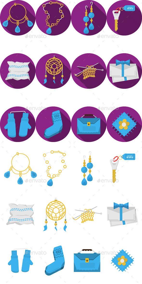 GraphicRiver Handmade Item Icons 10795635