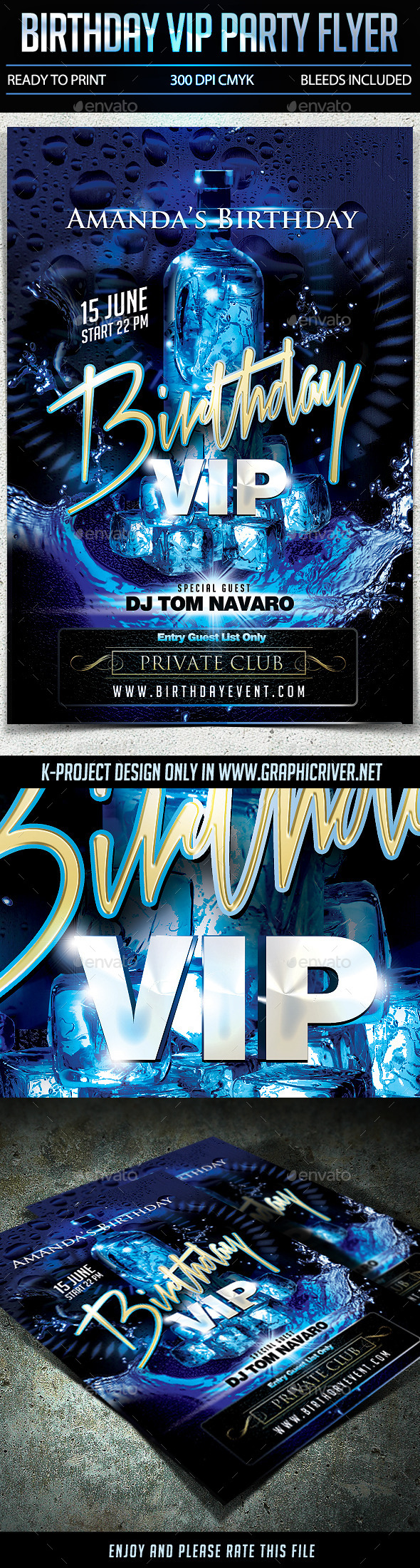 GraphicRiver Birthday VIP Party Flyer 10795637