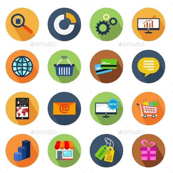 GraphicRiver E-commerce Circle Icons 10795647