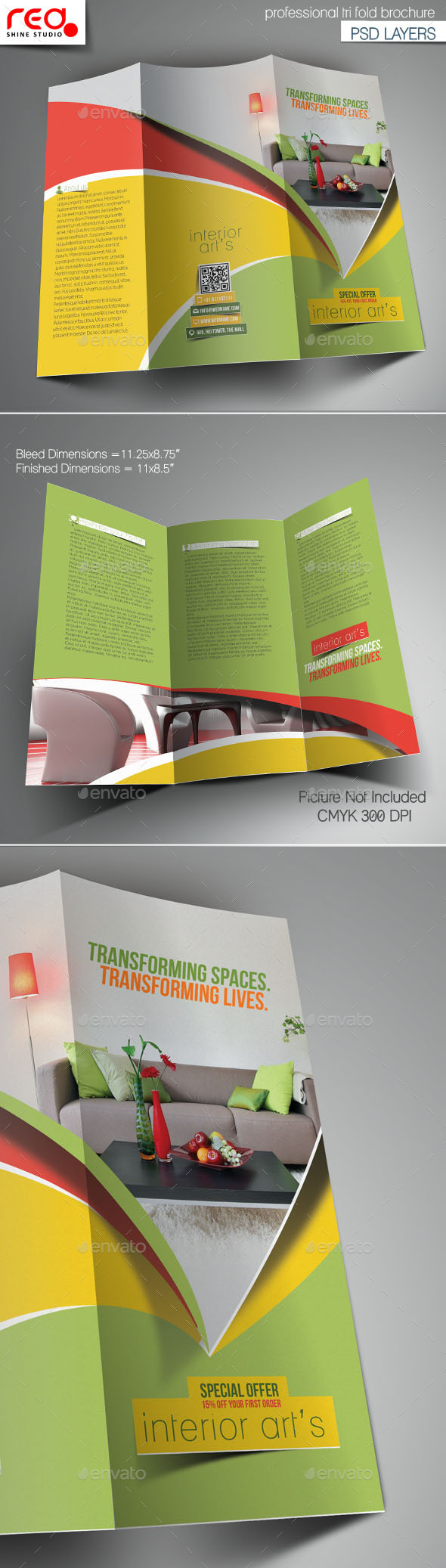 GraphicRiver Interior Art s Trifold Brochure Template 10795648