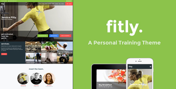 ThemeForest Fitly A Personal Training WordPress Theme 10795905